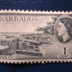 TIMBRE ANGLIA/COLONII BARBADOS