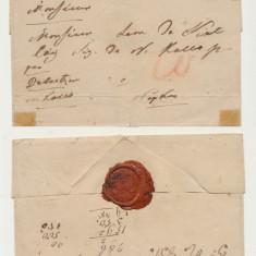 Plic prefilatelic Ungaria stampila Pesth Pesta 1831 trimis via Debretin