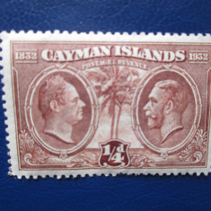 TIMBRE ANGLIA/COLONII CAYMAN ISLANDS SERIE=MNH, Nestampilat