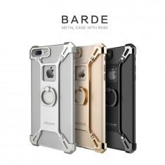 Bumper iPhone 7 Plus Barde Metal by Nillkin Silver - Husa Telefon Nillkin, Argintiu, Metal / Aluminiu, Fara snur, Carcasa