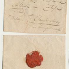 Plic prefilatelic 1783 Pesta catre baronesa Altvintzi nascuta Teleki la Cluj