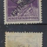 ROMANIA ocupatia in Ungaria Debretin I timbru 15f Karl Koztarsasag neuzat