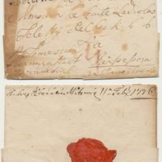 Plic prefilatelic Austria stampila Peterwardein 1776 via Timisoara si Sibiu