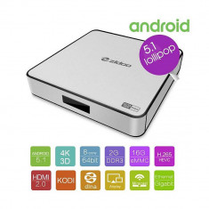 Resigilat : Mini PC cu Android PNI Zidoo X6 Pro, Octa core, Android 5.1, HDMI 2.0, - Media player