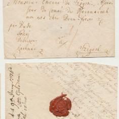 Plic prefilatelic 1776 stampila liniara Buda catre Ettiene de Sighet asesor MM