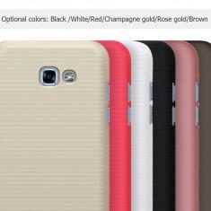 Husa Samsung Galaxy A5 2017 Super Frosted Shield + Folie by Nillkin Gold - Husa Telefon Samsung, Auriu, Plastic, Fara snur, Carcasa