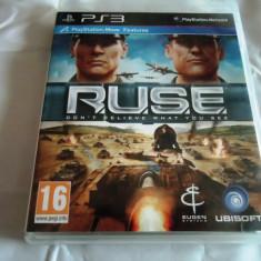 Joc RUSE, PS3, original, alte sute de jocuri! - Jocuri PS3 Ubisoft, Shooting, 16+, Single player