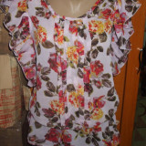 NOU Bluza top camasa de dama imprimeu floral din voal ATMOSPHERE 38 M