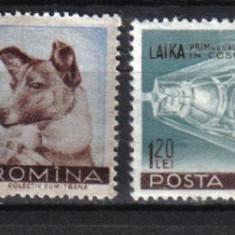 1957 Romania, LP 447 - Catelusa Laika, primul calator in cosmos-MNH - Timbre Romania, Nestampilat