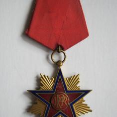 Ordinul Steaua Romaniei, model 1947, cls a 3-a, model RPR . Foarte rar !! - Decoratie