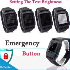 Ceas Mp4 Mp3, foto, video, 4GB, ebook smartwatch, buton panica - Mp4 playere E-boda, Negru
