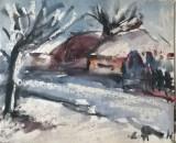Iarna pe ulita, Peisaje, Acuarela, Altul