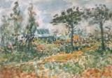 Drum de tara, Peisaje, Acuarela, Impresionism