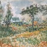 Drum de tara - Pictor roman, Peisaje, Acuarela, Impresionism