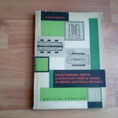 TRANSFORMAAREA DIRECTA A DIFERITELOR FORME DE ENERGIE-G. N. ALEKSEEV