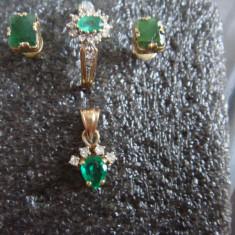 Set bijuterii aur cu pietre pretioase
