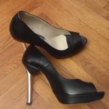 Pantofi Bagatt Milano - stileto piele naturala - Pantof dama, Culoare: Negru, Marime: 37