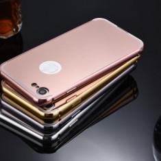 Husa - Bumper Aluminiu + Spate Oglinda - Iphone 7 - Bumper Telefon Apple