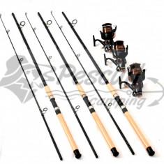 Set 3 Lansete EPOXY Cu 3 Mulinete MIFIN SPEED Cu Baitrunner Si Fir Cadou - Set pescuit