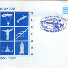 Romania-Set 2 plicuri ocazionale 1995-40 de ani de activitate Aeroclubul Suceava