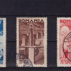 ROMANIA 1943, LP 154 I, CONSILUI DE PATRONAJ, SERIE STAMPILATA - Timbre Romania