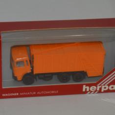 Macheta - camion de gunoi Roman Diesel, Herpa, scara 1:87. - Macheta auto