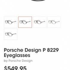Porsche Design Rama ochelari din titan Porsche Design P8229 autentica - Rama ochelari Rodenstock, Barbati, Negru, Rama intreaga, Designer
