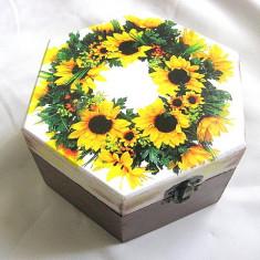 Cutie din lemn -floarea soarelui-28477
