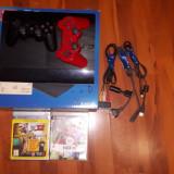 PlayStation 3 Sony slim 12 gb+2jocuri 3 controllere (2+1 gratis)