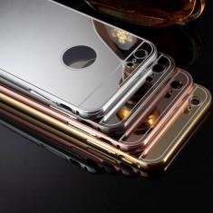 Husa - Bumper Aluminiu + Spate Oglinda - Iphone 6/6S - Bumper Telefon Apple