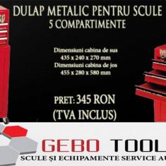 Dulap metalic pe roți pentru scule cu 5 compartimente - Dulap scule Service