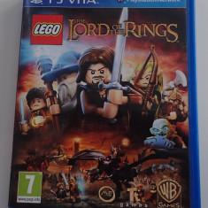 Joc PS Vita card original LEGO The Lord of the Rings impecabil ca nou in carcasa - Jocuri PS Vita, Actiune, 3+, Single player