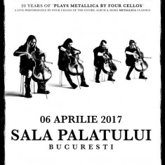 Bilet concert Apocalyptica plays Metallica by 4 cellos