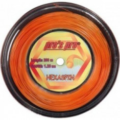 Racordaj Pro's Pro Hexaspin Twist Orange 1, 20mm- 200m - Racordaj racheta tenis