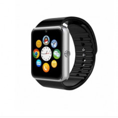 Ceas Smartwatch cu Telefon GT08 Argintiu, Aluminiu, Negru, Android Wear, Apple Watch Series 2