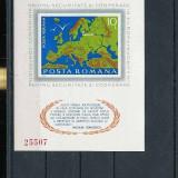 ROMANIA 1975 CSCE, CONFERINTA SECURITATE HELSINKI LP 892 COLITA NESTAMPILATA - Timbre Romania