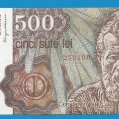 500 lei 1991 Ianuarie UNC - Bancnota romaneasca