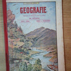 GEOGRAFIA PENTRU DIVIZIA II RURALA, ANUL AL II LEA de GR. PATRICIU, ION I. ONU SI IOAN I. TEODORU, BUC. 1912-1913 - Manual scolar