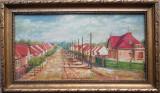 Peisaj rural - semnat ilizibil 1932, pictor Maghiar, Portrete, Ulei, Altul