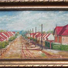 Peisaj rural - semnat ilizibil 1932, pictor Maghiar - Pictor roman, Portrete, Ulei, Altul