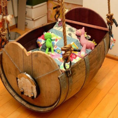 Leagan din lemn pentru copil mic - Balansoar interior Altele