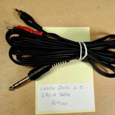Cablu Jack 6.3 - 2 RCA Tata 2, 4 m, Cabluri RCA