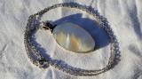 Medalion argint SIDEF in montura Oval Masiv VECHI SPLENDID rar pe Lant argint
