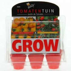 Kit Mini-Sera de Rosii Cherry, Buzzy Seeds