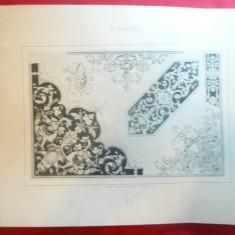 Litografie- Arta Decorativa Art Nouveau -Autor H.Friling- cca.1900 - Ed.Germania
