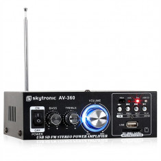 Amplificator stereo Hi-Fi SKYTRONIC AV-360, USB, SD, MP3, AUX - Amplificator audio