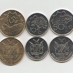 Lot monede Namibia 2010-2012 UNC - Jetoane numismatica