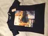 Tricou Jack&Jones 2017, M, Maneca scurta, Albastru