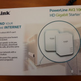 Kit adaptor PowerLine D-LINK AV2 1000 HD Gigabit DHP-P601AV nou,fara factura