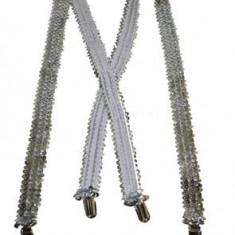 BRETELE PETRECERE GLAMOUR ARGINTII Cod 60821 - Bretele Copii